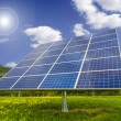 Solar panel in field — Stock Photo