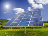 Solar panel in field — Stock Photo
