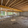 Basement construction under a new house — Stock Photo