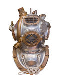 Deep sea antique diving helmet, isolated — Stock Photo