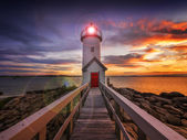 Sunset lighthouse — Stock Photo