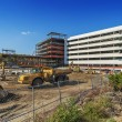 New building construction site — Stock Photo