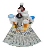Cost of drugs, isolated — Stock Photo