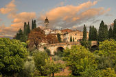 Tuscan hill village, Italy — Foto Stock