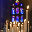 Candles in church — Foto Stock