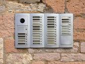 Door intercom and camera — Stock Photo