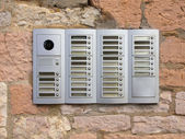 Door intercom, ID and camera — Stock Photo