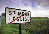 Saint Mere Eglise sign — Foto Stock