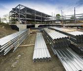 New commercial building construction site — ストック写真