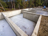 Concrete foundation for new houses — Stock Photo