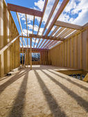 New framing construction of a house — Stock Photo