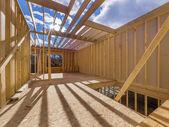 New framing house construction — Stock Photo