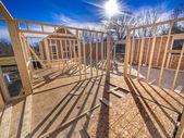 новое строительство каркаса дома — Стоковое фото