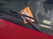Parking ticket violation — Stock Photo
