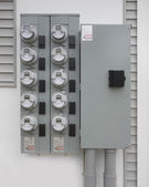 Power supply panel and meter — Stock Photo