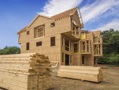 New residential house construction — Stock Photo