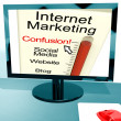 Royalty-Free Stock Photo: Internet Marketing Confusion Shows Online SEO Strategy