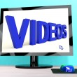 Videos Word On Computer Showing Dvd Or Multimedia — Stock Photo #12652061