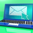 Stock Photo: Email Icon On Laptop Showing Emailing Or Contacting