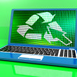 Royalty-Free Stock Photo: Recycle Icon On Laptop Showing Recycling And Eco Friendly