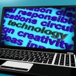 Stock Photo: Technology Word On Laptop Meaning Software And Hi Tech