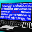 Ideas Word On Computer Screen Showing Creativity - Stock Photo