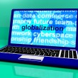 Globalization Word On Laptop Showing International Business — Stock Photo
