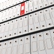 Stock Photo: Red File Amongst White For Getting Office Organized