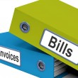 Bills And Invoices Files Show Accounting And Expenses — Stock Photo #12652417