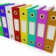 Stock Photo: Row Of Colorful Files To Get Organized