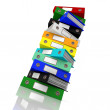Stack Of Files For Getting Office Organized — Foto de stock #12652519