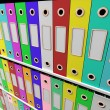 Stock Photo: Shelves Of Files For Getting Paperwork Organized