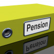 Stock Photo: Pension File Contains Retirement Documents And Records