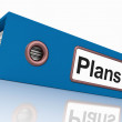 Stock Photo: Plans File As Contains Targets And Goals