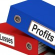 Profits Or Losses Files Showing Returns For Business — Stock Photo #12652662