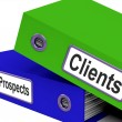Clients And Prospects Files Shows Converting Leads — Stock Photo