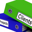 Stock Photo: Clients And Prospects Files Shows Converting Leads