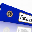 Stock Photo: Emails File Showing Contacts and Correspondence