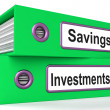 Investments And Savings Files Showing Growing Wealth — Foto Stock