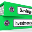 Investments And Savings Files Showing Growing Wealth — Foto de Stock