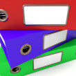 Stock Photo: Stack Of Three Files For Getting Organized
