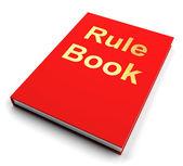 Pravidlo knihy nebo politiky příručka manuální — Stock fotografie