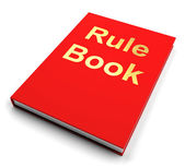 Rule Book Or Policy Guide Manual — ストック写真