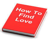 Book On How To Find Love — Stock Photo