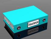 Försäkring täckning fil för politik — Stockfoto