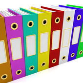 Row Of Colorful Files For Getting Organized — Stock Photo