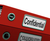 Confidential File Shows Private Correspondence Or Documents — Stock Photo