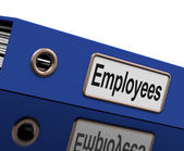 Employees File Contains Employment Records And Documents — Stock Photo