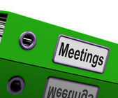 Meetings File To Show Minutes Of Company Discussion — Zdjęcie stockowe