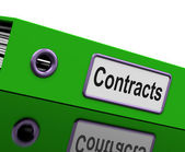 Contract File Shows Legal Business Agreements — Stock Photo